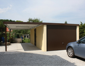 Garage mit Carportanbau